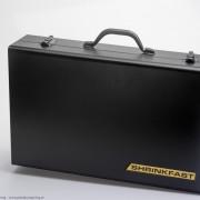 Värmepistolen förvaras enkelt i en snygg väska som ingår